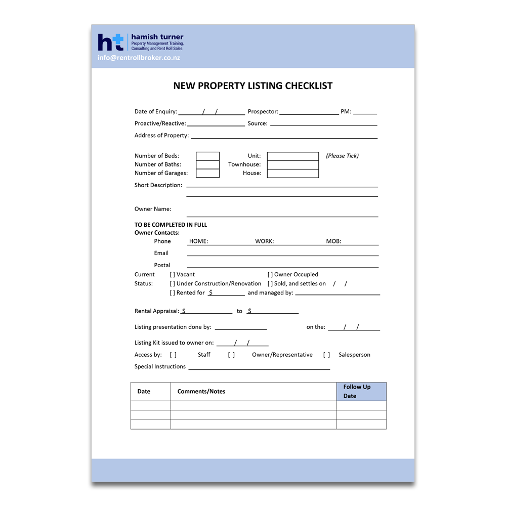 new-property-listing-checklist